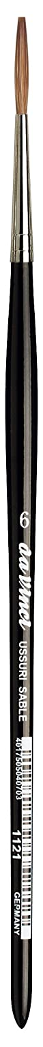 da Vinci Watercolor Series 36 Paint Brush Size 5//0 Round Russian Red Sable with Black Handle