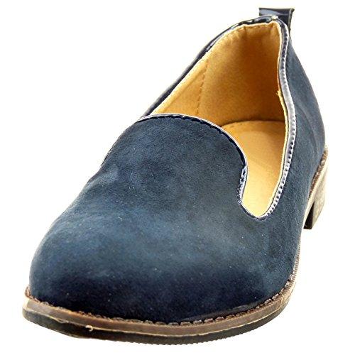 Sopily - damen Mode Schuhe Mokassin - Blau