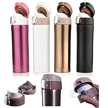 CAMTOA 500ML Stainless Steel Water Bottle Vacuum-Insulated Stainless Steel Travel Mug for Hiking Camping Travelling Mountain Climbing Golden