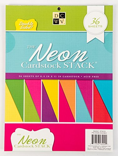 DCWV The Double-Sided Cardstock Stack, Neon by DCWV