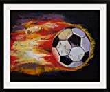 GreatBIGCanvas ''Soccer Ball'' by Michael Creese Photographic Print with Black Frame, 36'' x 29''