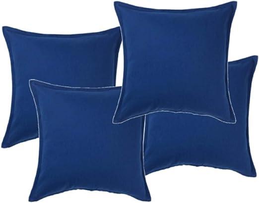 Ikea GURLI - Fundas de cojín (50 x 50 cm), color azul, algodón, azul, Pack de 4: Amazon.es: Hogar