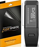 [6-Pack] Supershieldz for Garmin vivosmart HR+ / Approach X40 Screen Protector [Full Screen Coverage] Anti-Bubble High Definition Clear Shield -Lifetime Replacements Warranty - Retail Packaging