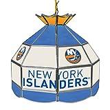 Trademark Gameroom NHL 16 Inch Handmade Tiffany Style Lamp-New York Islanders