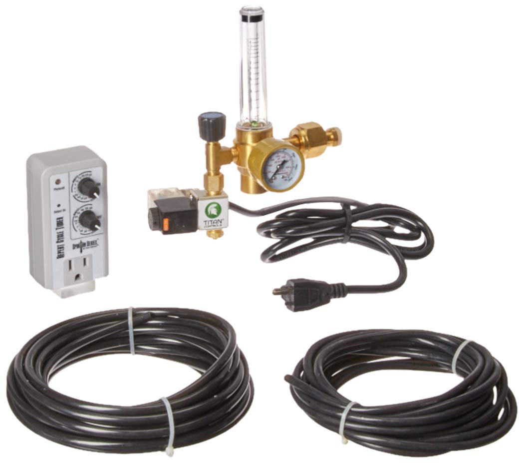 Titan Controls Deluxe CO2 Regulator Kit w/Timer