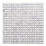 Diflart Italian White Carrara Marble Mosaic Tile Polished, 5 Sheets/Box (Square)