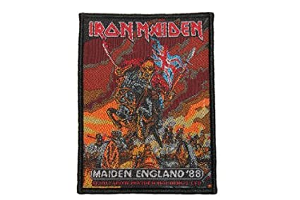 Iron Maiden Maiden England /'88 Tour Patch Heavy Metal Band Woven Sew On Applique