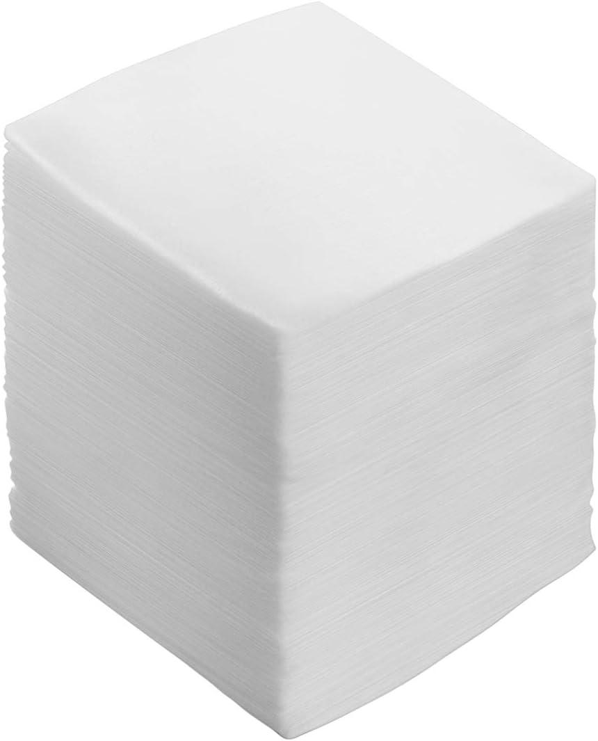 Healifty Almohadillas de gasa estériles Esponjas de gasa Almohadillas de gasa no tejidas para el cuidado de heridas Eliminación de maquillaje Eliminación de esmalte de uñas 100 piezas