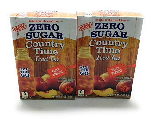 Country Time Singles Zero Sugar On the Go Peach Harvest Iced Tea Pack of 2