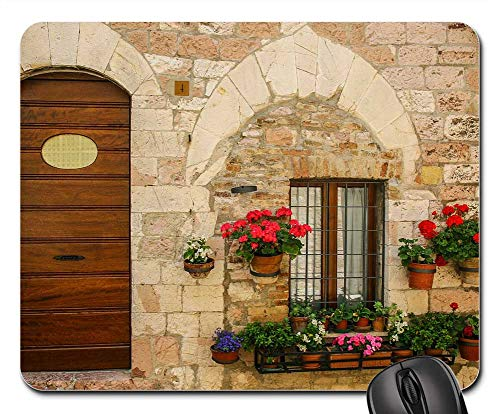 (Mouse Pads - Door Venice Old Architecture House Exterior)