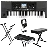 : Korg PA300 61-key Arranger Workstation Keyboard Bundle with Knox Double X Stand ,Bench ,Headphones and Dust Cover
