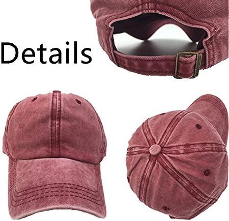 QUEMIN Sombrero de Jeans de béisbol Cabello desordenado No Importa Hombres Mujeres Casquetas Snapback Gorra de béisbol Ajustable Negro