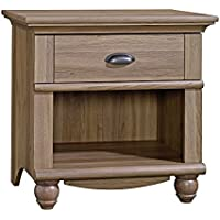 Sauder Harbor View Night Stand Salt Oak with One Drawer