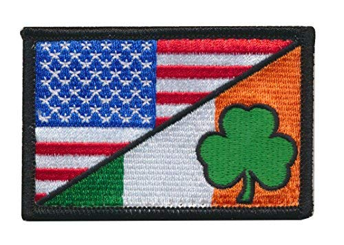 (Tactical USA Flag / Luck Of The Irish Ireland Flag Embroidered)