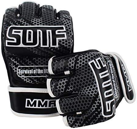 HUYYA 三田スパーリングパンチングバッグ土嚢手袋のハーフフィンガートレーニンググローブ、ボクシンググローブ パンチングミット 重いバッグ手袋,SOST1M
