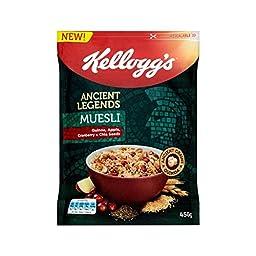 Kellogg\'s Ancient Legends Muesli Quinoa, Apple, Cranberry & Chia Seeds 450g - Pack of 4