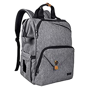 Hap-Tim-Baby-Diaper-Bag-Backpack-Large-Capacity-Double-Compartment-with-Stroller-StrapsWaterproof-Nappy-Bag-Backpack-for-Newborn-MotherFatherAU7340-G