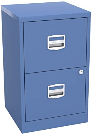 Bisley - Archivador de 2 cajones (Metal, A4), Color Azul: Amazon.es: Hogar
