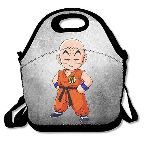 Bakeiy DRAGON Boy BALL Lunch Tote Bag Lunch Box Neoprene Tote For Kids And Adults For Travel And Picnic