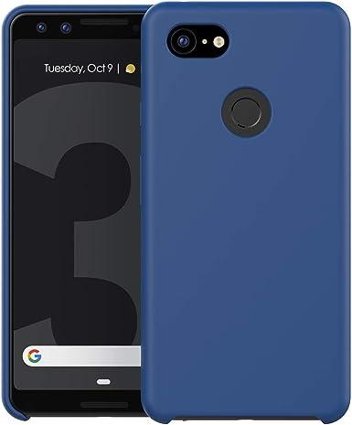 Funda de silicona líquida para Google Pixel 3 con forro de gamuza ...