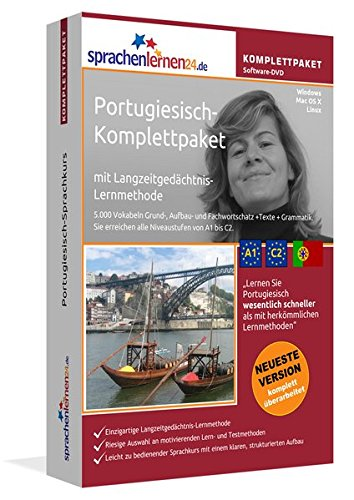 Sprachenlernen24.de Portugiesisch-Komplettpaket (Sprachkurs): DVD-ROM für Windows/Linux/Mac OS X inkl. integrierter Sprachausgabe mit über 5700 Vokabeln und Redewendungen