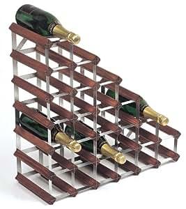 Samuel Groves RTA - Botellero para 27 botellas para colocar debajo de las escaleras (pino y acero galvanizado)