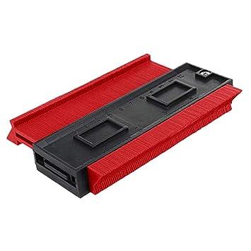 Homyl Contorno Duplicador Perfil Calibrador Laminado Azulejos Bordes Parte de Industrias - rojo: Amazon.es: Bricolaje y herramientas