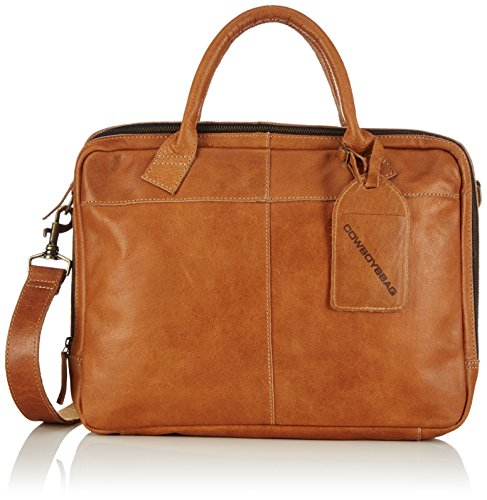 Cowboysbag Bag Fairbanks, Borsa a mano Unisex – adulto Marrone (Braun (Camel 370))