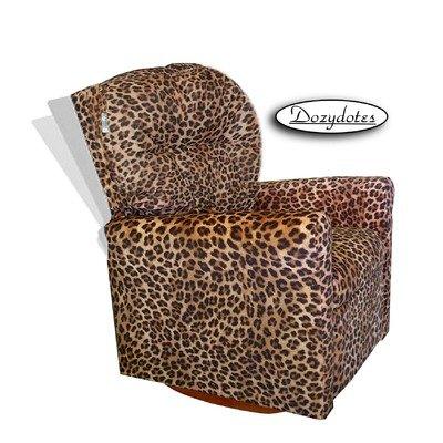 (Dozydotes 10893 Contemporary All Cheetah Fabric Rocker Recliner )