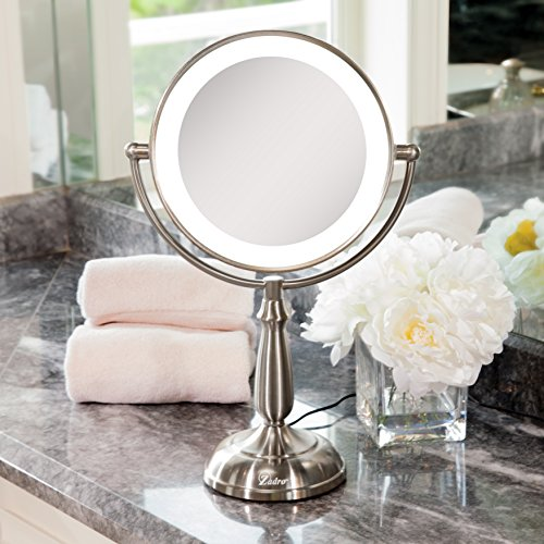 Zadro Satin Nickel Dual Sided Led Lighted Dimmable Touch Vanity Mirror, 12X / 1X Magnification by Zadro (Image #5)