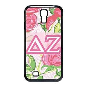 Samsung Galaxy S4 9500 Cell Phone Case Black_Delta Zeta Flowers Pjypq