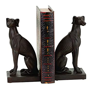 Deco 79 Polystone Dog Bookend Pair Designed for Elite Class