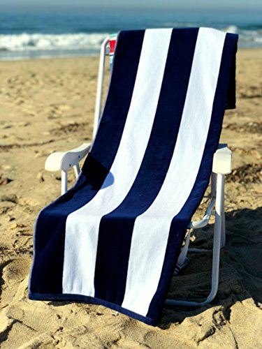 (Ephesus Beach Towel Cabana Striped One Side Terry and One Side Velour 35