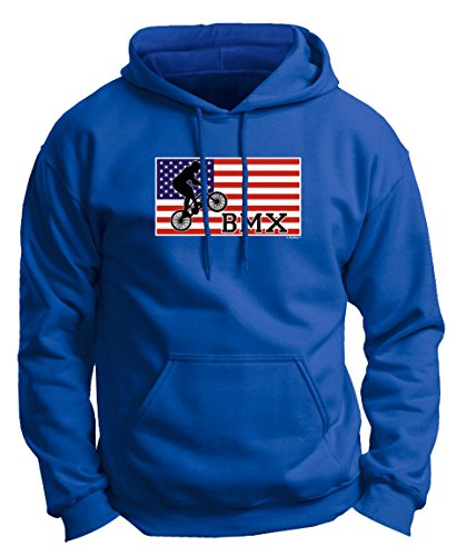 BMX Tires American Pride Cycling BMX Bikes Premium Hoodie Sweatshirt 3XL Royal (Fat Tire Hoodie compare prices)