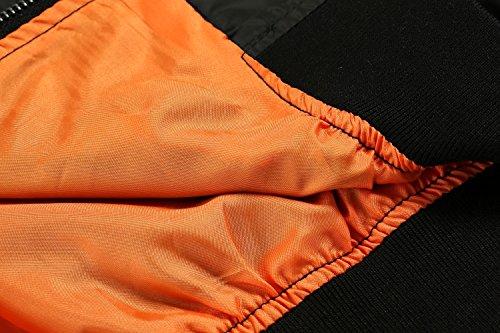 Zeagoo Women Classic Solid Biker Jacket Zip up Bomber Jacket Coat Army Green S by Zeagoo (Image #6)
