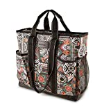 DEMOMENT Large Canvas Utility Tote Bag,Work Teacher Nurse Shoulder Women Bag(Tribal)
