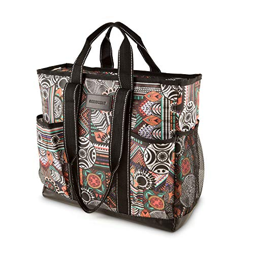 (DEMOMENT Large Canvas Utility Tote Bag,Work Teacher Nurse Shoulder Women Bag(Tribal))