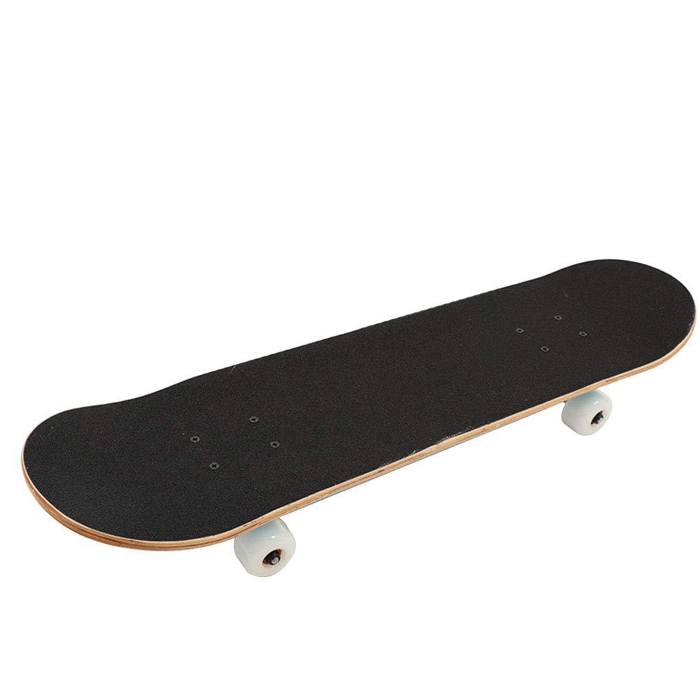 BIN Nuovo Skateboard Standard Doppio Pattino Professionale Adulto Skateboard a Quattro Ruote 79  20  13