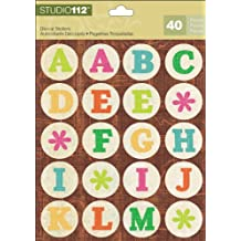 K&Company Studio 112 Alphabet Die-Cut Stickers