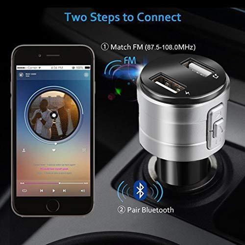 Finedayqi ❤ Bluetooth Car USB Charger FM Transmitter Wireless Radio Adapter MP3 Player 3.4A