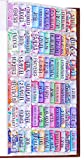 Colorful Floral Bible Tabs Laminated with Matte