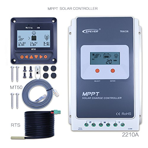 EPEVER 20A MPPT Solar Charge Controller ,Anancooler Tracer A 2210A + Remote Meter MT-50 Solar Charge With LCD Display for Solar Battery Charging by EPever