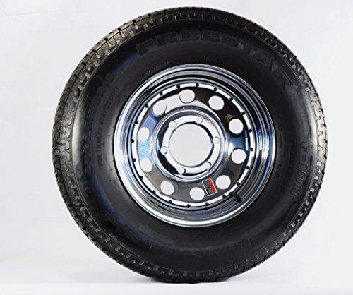 Radial Trailer Tire + Rim ST225/75R15 225/75-15 15 6 Lug Wheel Chrome Mod/Rivets by eCustomRim (Image #3)