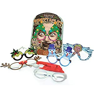 House of Marbles Yuletide Spectacles - Fun Holiday Eyewear- Pack Of 6