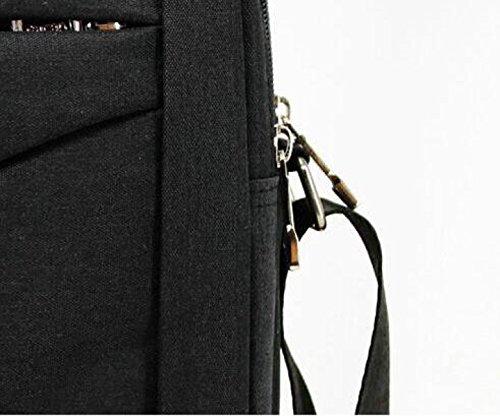 Los De Sección Vertical Hombres Black De Impermeable Moda Cuadrado Casual Hombro De Bolsa La Mensajero Color De Bolso De Puro EwqSvctqf