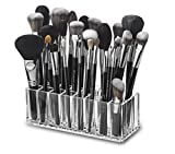 byAlegory Acrylic Makeup Beauty Brush Organizer | 24 Space Cosmetic Storage (CLEAR)
