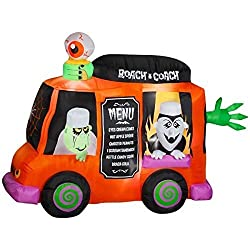 Gemmy Airblown Inflatable Animated Roach Coach Food Truck...