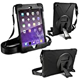 Tuff-Luv Armour Guard Case with Shoulder strap & integrated Screen protection for Ipad Mini 4 - Black