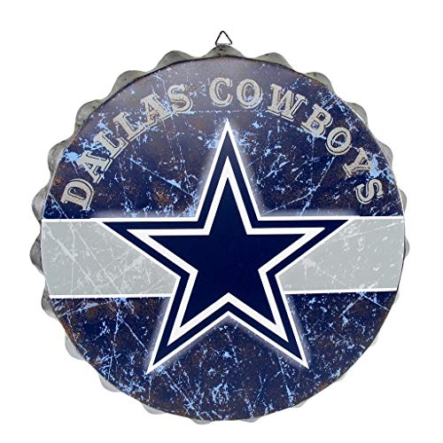 FOCO NFL Dallas Cowboys Metal Distressed Bottlecap Wall Signmetal Distressed Bottlecap Wall Sign, Team Color, One Size -