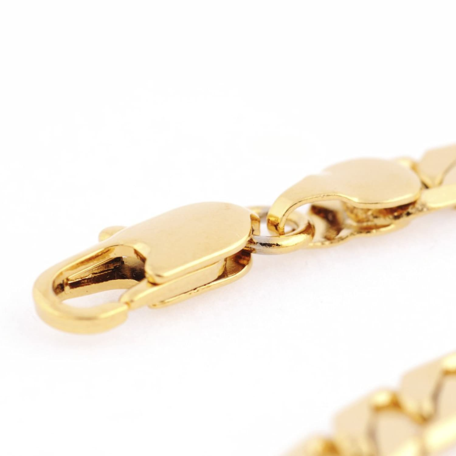 Followmoon Cool 18K Gold Plated Figaro Link Necklace Chain (18 ...